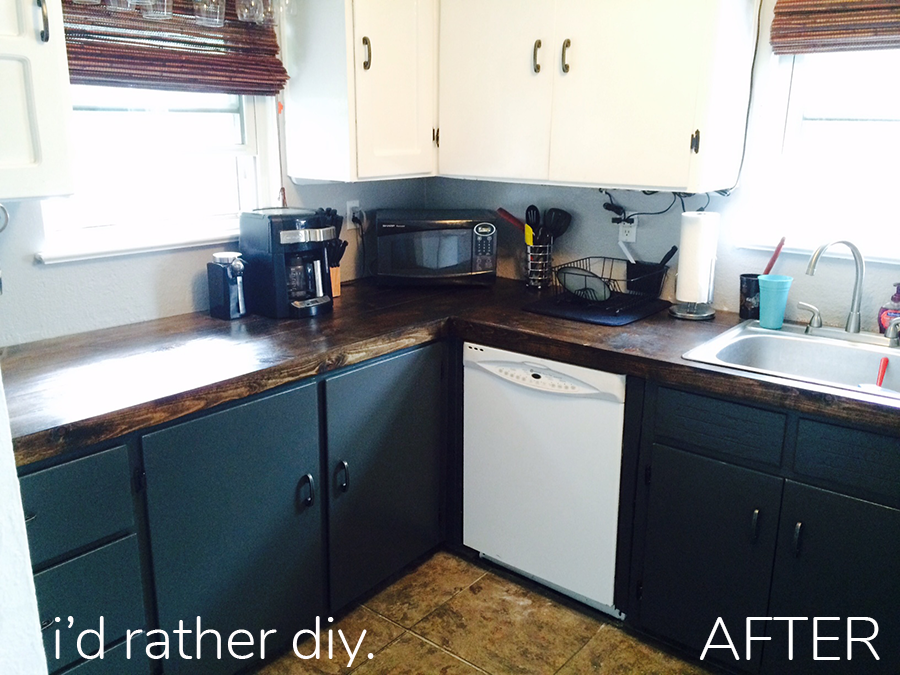 Replacing a Laminate Kitchen Counter with Wood Planks